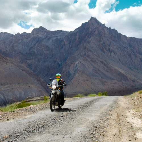 Royal Enfield motorcycle ride to Zanskar Valley, India